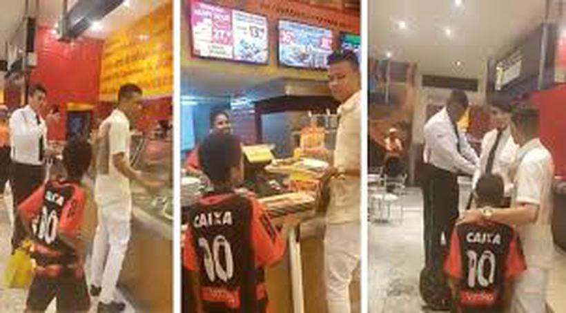 Segurança impediu criança de comer, em Brasília. E depois? (Imagens: Reprodução)