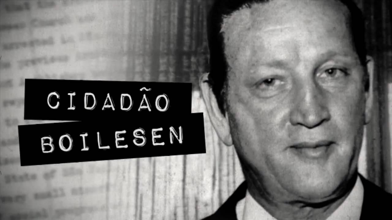 """Cartaz de """"Cidadão Boilesen"""", o documentário de Chaim Litewski que conta a história do Grupo Ultra e seus vínculos com repressão"""