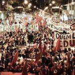 Protesto, selvageria policial e prisões ilegais