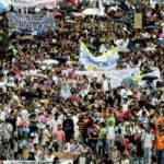 As cores das manifestações colombianas