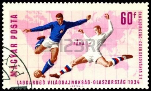 Selo húngaro de 1966 homenageia Copa do Mundo de 1934