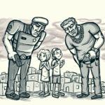 Crianças juradas pela polícia e pelo crime organizado