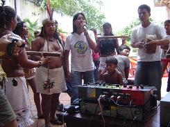 Radio livre na ocupa da funai em 2005