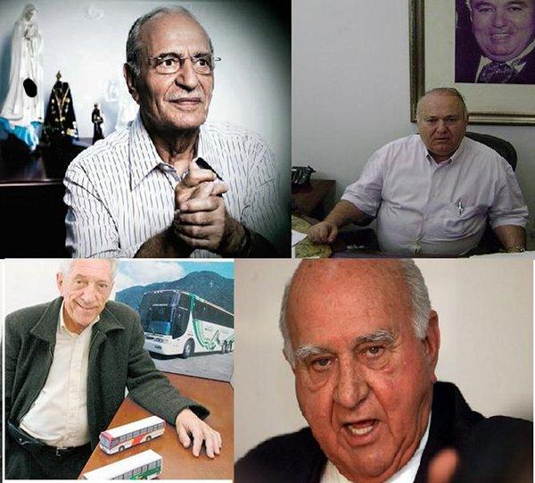 José Ruas Vaz, Baltazar José de Sousa, Antônio Eroles e Wagner Canhedo.