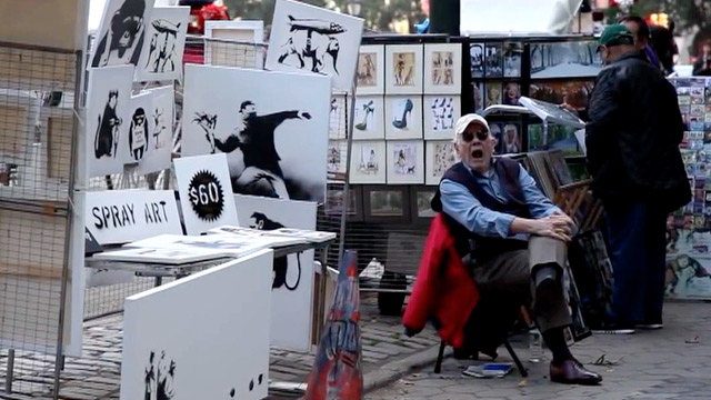 Banksy sells original work for just $60 in Central Park – video