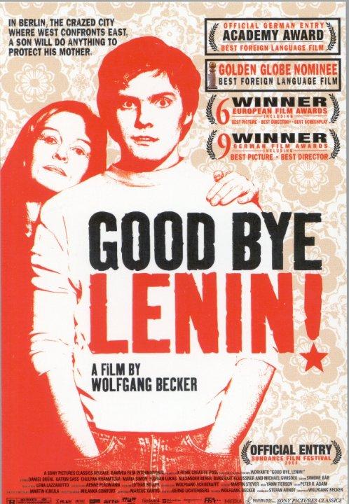 """Capa do filme """"Adeus Lenin"""", do diretor alemão Wolfgang Becker"""