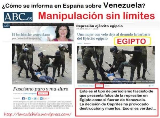 Policial egípcio reprimindo manifestante venezuelano?