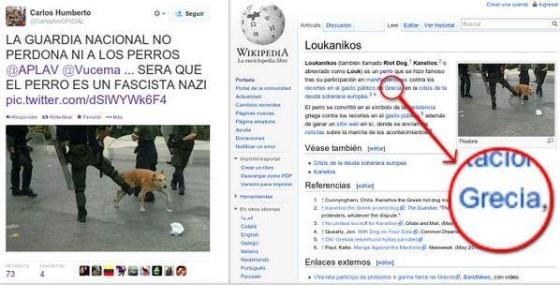 Animal ícono das manifestações na Grécia, se junta a oposição venezuelana?