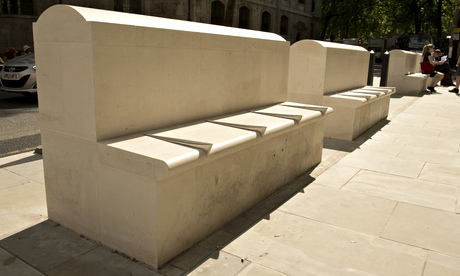 Hostile architecture: benches