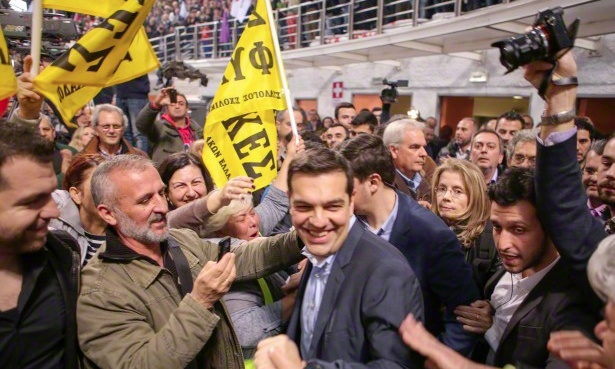 "Alexis Tsipras, leader of Greek party ""SYRIZA"" speaks in Thessaloniki"