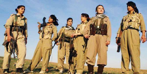 Resultado de imagem para mulheres de kobane