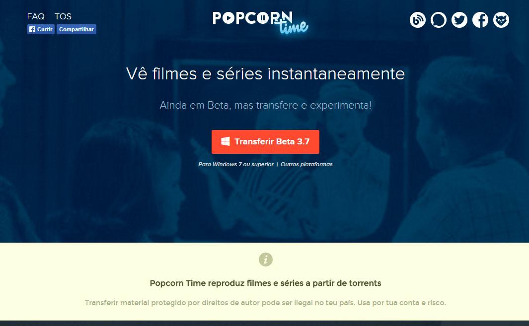 """""""Popcorn"""": muito mais filmes e programas que o Netflix -- e sem pagar nada"""