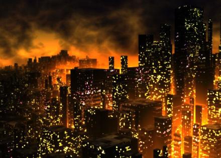 Cena do game Dystopia, ambientado num mundo em profunda e permanente crise hídrica