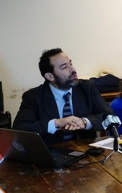 Advogado chileno Álvaro de Castro Morales na Universidade da República do Uruguai, em Salto. Foto: Daniel Santini
