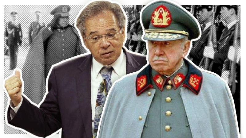 """Resultado de imagem para O ditador, sua """"obra"""" e o senhor Guedes"""
